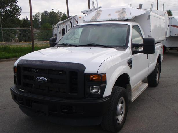 2008 ford f 350 sd xl 4wd regular cab long box with canopy stk 24775 burnaby incl new. Black Bedroom Furniture Sets. Home Design Ideas