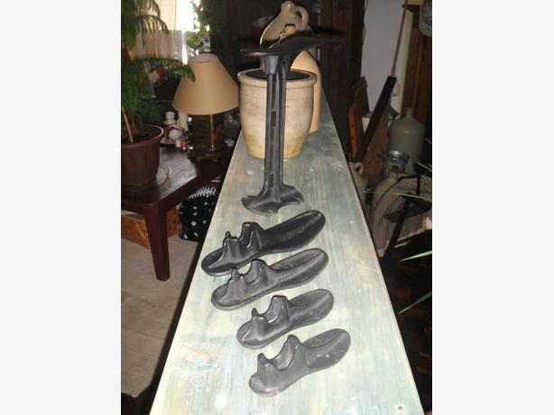 ONE- OF- A- KIND OLD SHOE MAKER SET