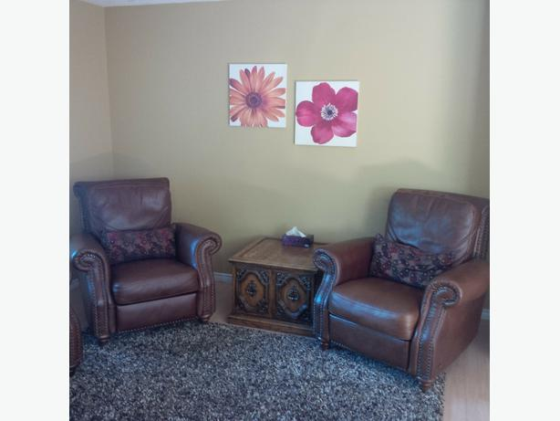 Like new high end leather recliners outside victoria victoria for High end furniture for less