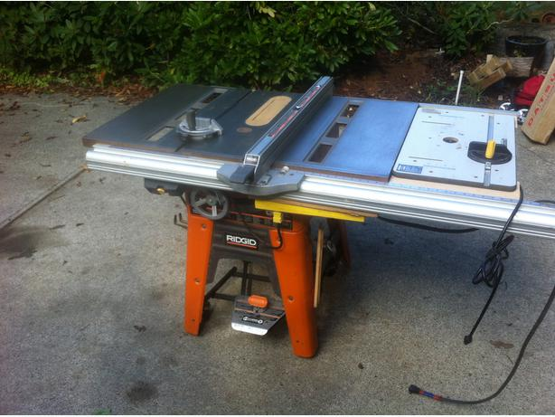 Ridgid Table Saw And Mastercraft Router Combo Saanich