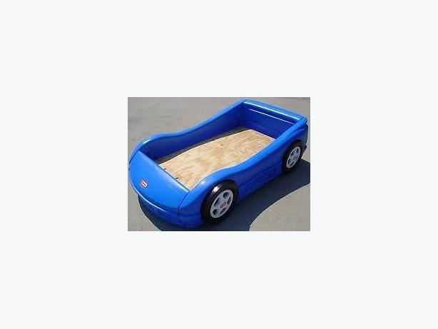 Little Tikes Blue Car Bed: LITTLE TIKES Car Bed CRIB Size In BLUE INC Mattress West