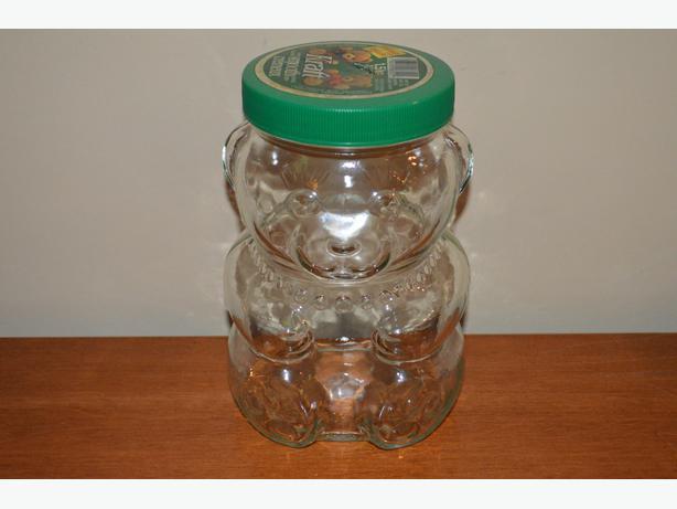 1988 Vintage glass Kraft bear peanut butter jar Saanich ...