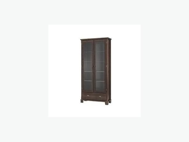 IKEA Mark r glassdoor cabinet with 1 drawer dark brown North – Ikea Markor Bookcase