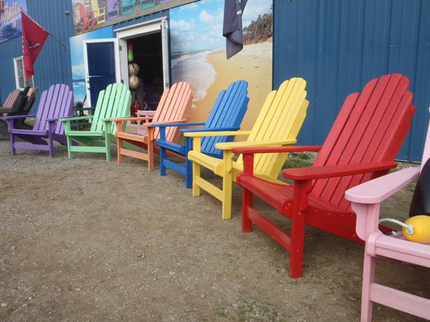 ADIRONDACK CHAIRS & ACCENT TABLES, OUTDOOR POLY FURNITURE BY BREEZESTA