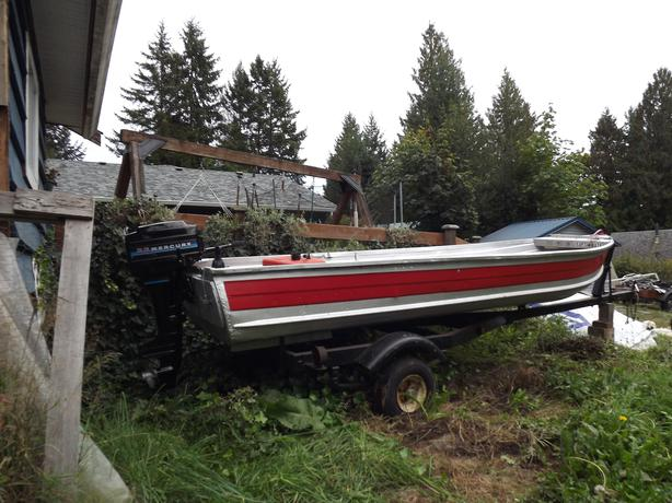14 ft aluminum boat outside nanaimo nanaimo Aluminum boat and motor packages