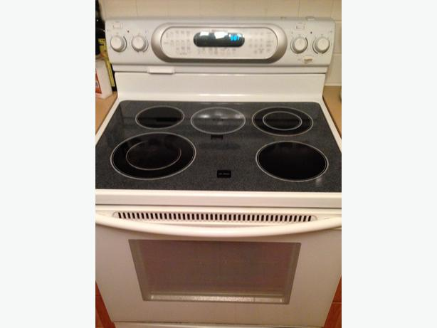kitchen aid self cleaning ceramic top dual burners convection oven