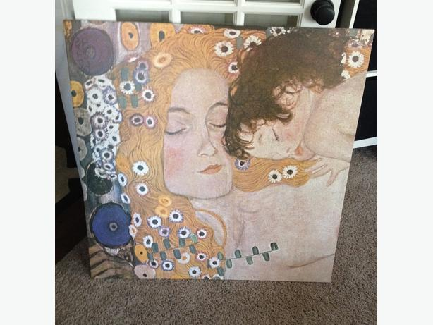 Ikea Gustav Klimt Mother And Child Reproduction West Shore