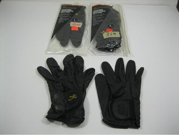 Browning Black Leather Shooting Gloves