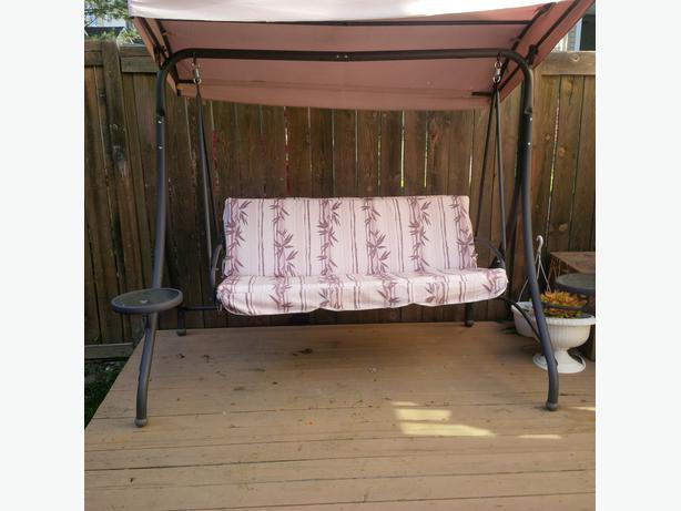Patio Swing W Two Side Swing Tables For Sale Orleans Ottawa