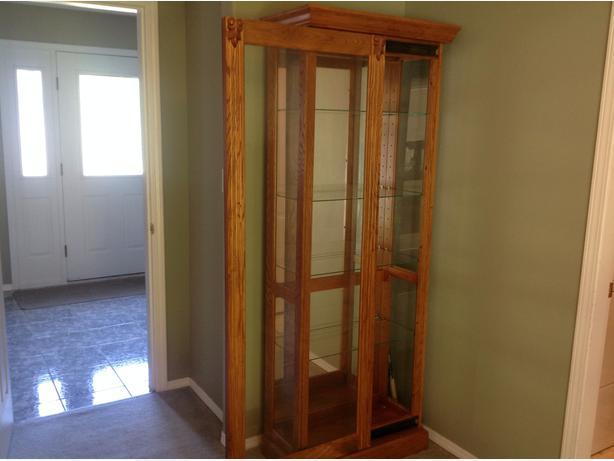 Oak Curio Cabinet Malahat Including Shawnigan Lake Amp Mill