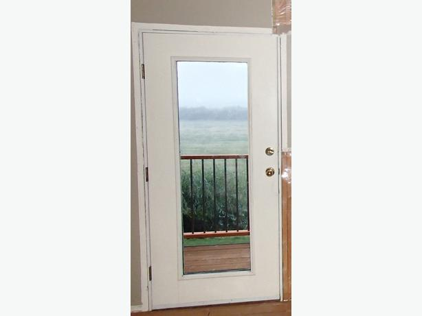 Pre Hung White Metal Exterior Door W Full Glass Duncan Cowichan