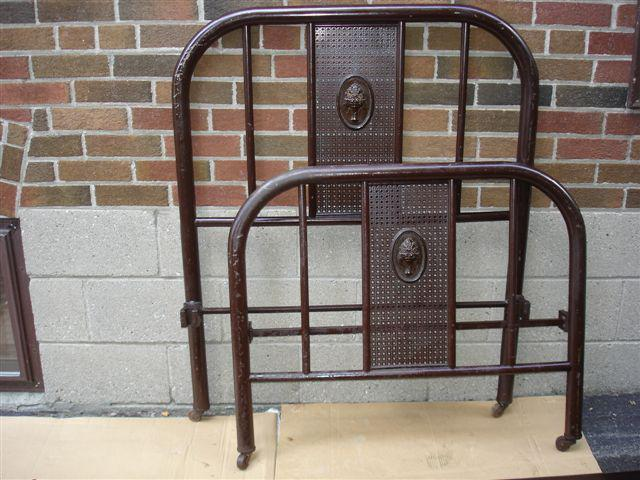 Vintage Metal Bed Frames sold***antique vintage metal single bed frame etobicoke, toronto