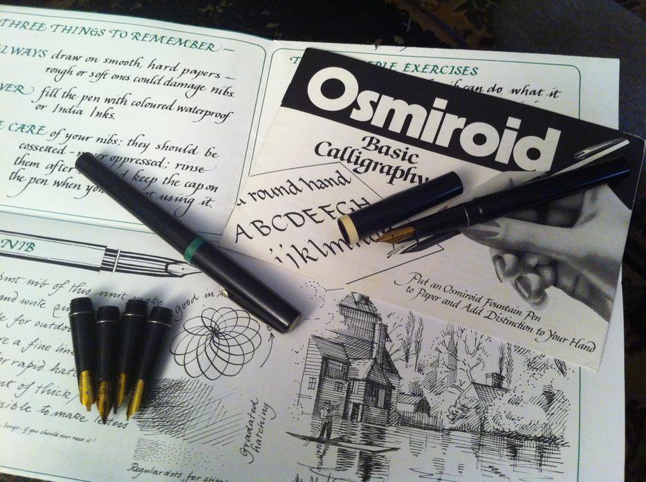 Osmiroid Calligraphy Drawing Pens With Tips Duncan Cowichan