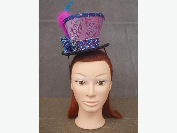 Pink And Blue Princess Mad Hatter Style Mini Hat Fascinator! Burnaby ... eacdd90ca69