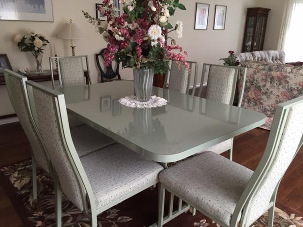 sage green dining room set central saanich victoria