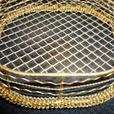 Overstock Sale of Gold Metal Mesh Gift Baskets - NEW!