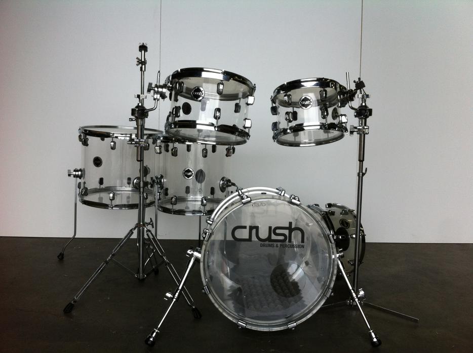 crush acrylic 9 pc drum set plus extras saanich victoria. Black Bedroom Furniture Sets. Home Design Ideas
