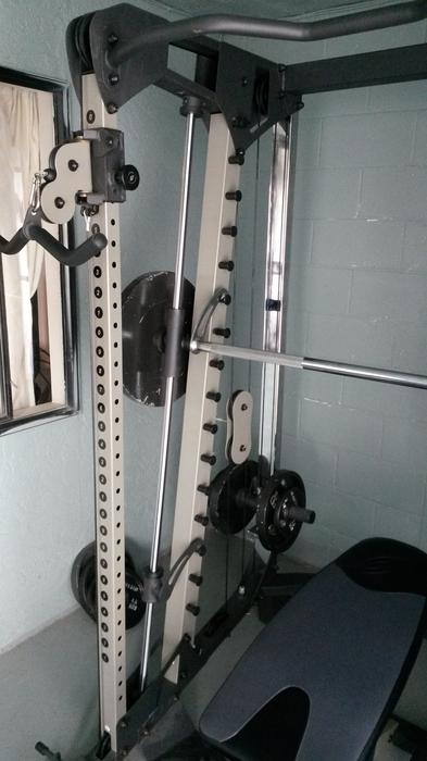 smith machine with cable crossover