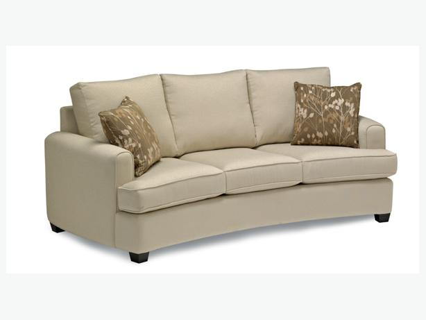 Curved stylus sofa made in vancouver central nanaimo for Curved sectional sofa amazon