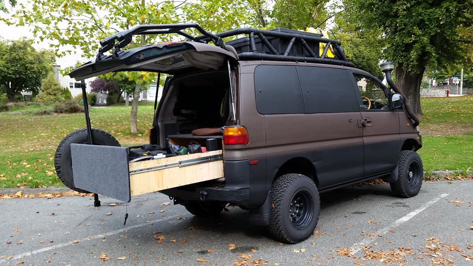 1994 4x4 mitsubishi delica expedition camper victoria city victoria. Black Bedroom Furniture Sets. Home Design Ideas