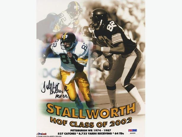 "John Stallworth Signed Steelers ""HOF Class of 2002"" 8x10 Photo (PSA)"