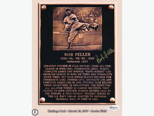 Bob Feller Signed 8x10 Photo (JSA Hologram)