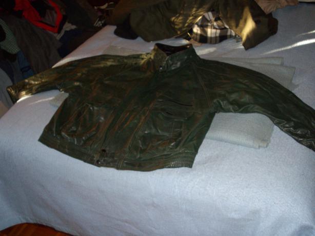 Leather Bomber Style Jacket size 46