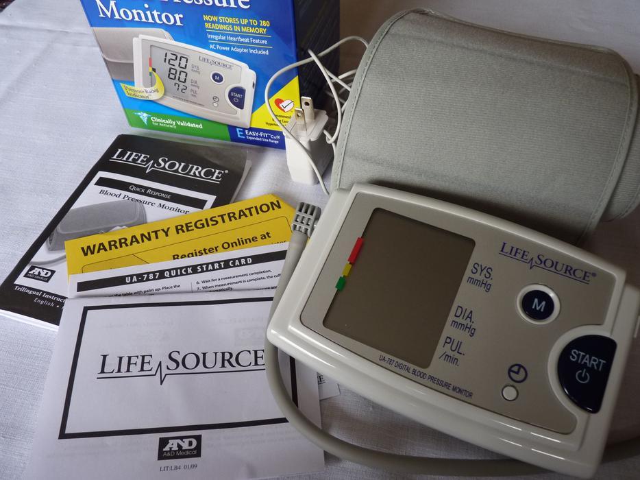 life source blood pressure monitor ua 787 manual