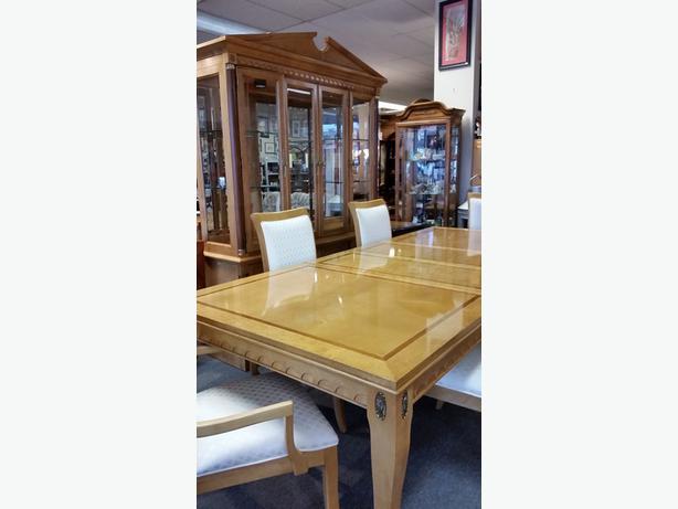 Stanley Furniture 9 piece Birdseye Maple amp Walnut Inlay  : 41698288614 from www.usedvictoria.com size 614 x 461 jpeg 27kB