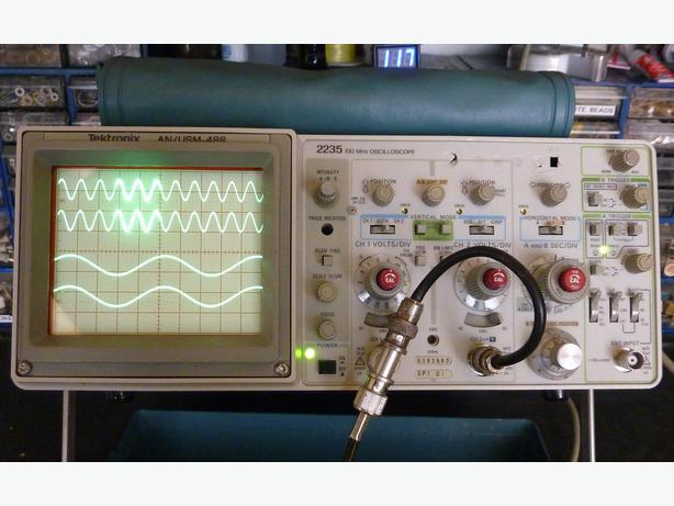Dual Trace Oscilloscope : Tektronix oscilloscope mhz dual trace time