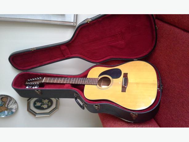 12 string accoustic guitar and hard case central ottawa inside greenbelt ottawa. Black Bedroom Furniture Sets. Home Design Ideas