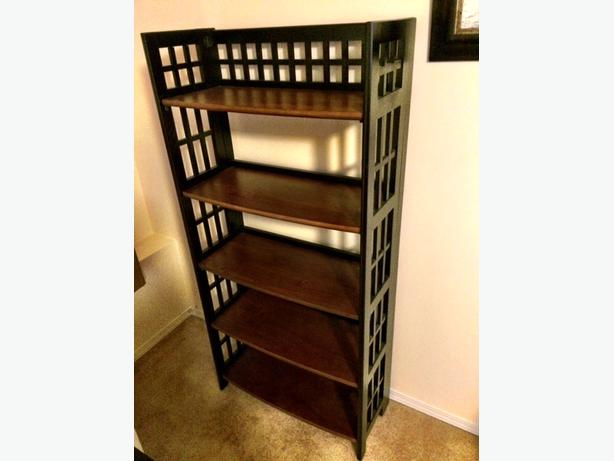 pier 1 imports folding bookcase saanich victoria. Black Bedroom Furniture Sets. Home Design Ideas