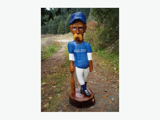 Chainsaw Carved Baseball Player