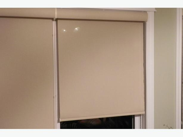 Roller blinds with sun control