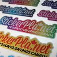 100 Fully Customized Premium Metallic Dealer Identification ID Name Tag Stickers