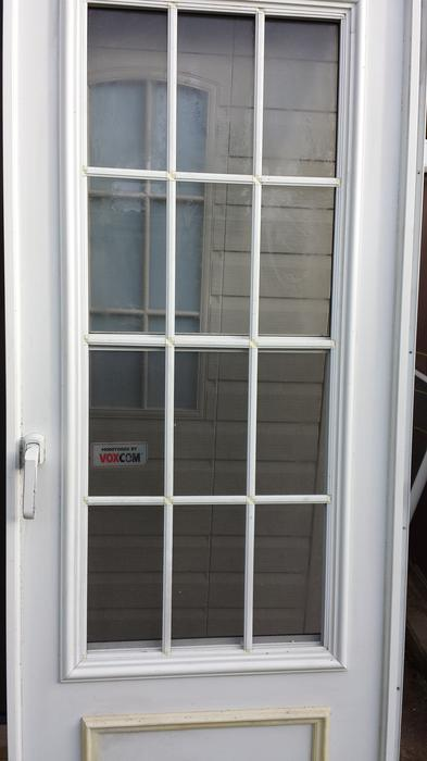 Composite french style storm screen door new pictures for Storm doors for french doors