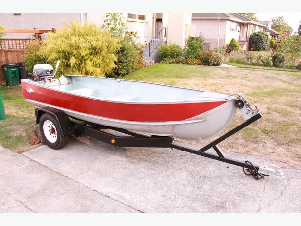 12 foot aluminum boat with 6hp and trailer saanich victoria for 12 foot fishing boat