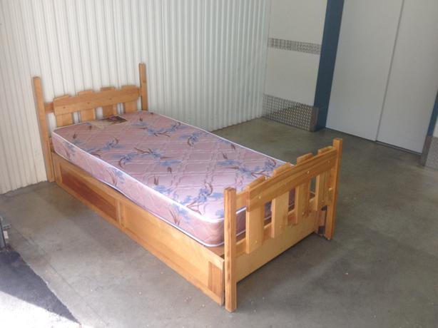Solid Maple Captains Bed And Mattress Esquimalt Amp View