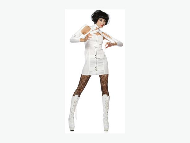 Amazing and Sexy Lip Service Insane Asylum Strait Jacket Dress