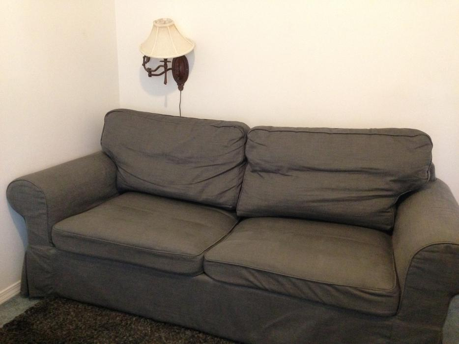 500 ikea linen sofa bed victoria city victoria for Sofa bed victoria