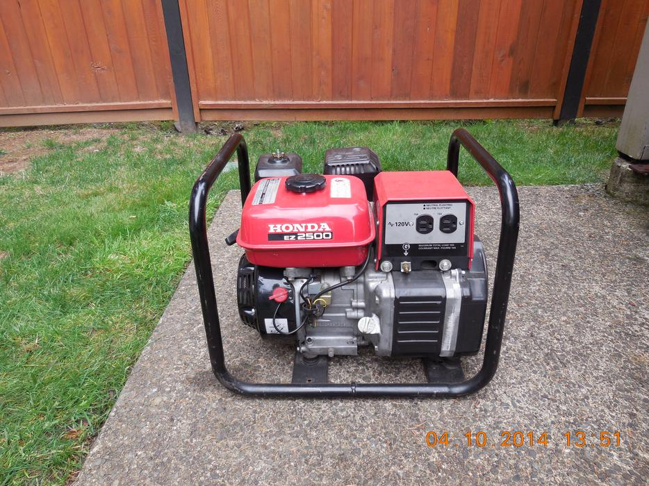 Honda St George >> Honda EZ 2500 Generator West Shore: Langford,Colwood,Metchosin,Highlands, Victoria