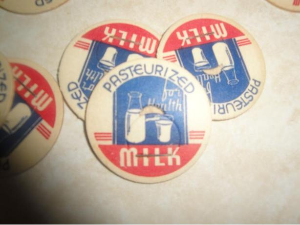 for all 29 - Vintage Milk Bottle Caps