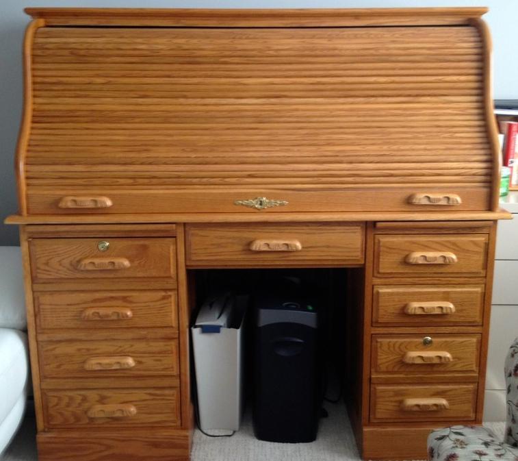 Solid Oak Roll Top Desk South Regina Regina