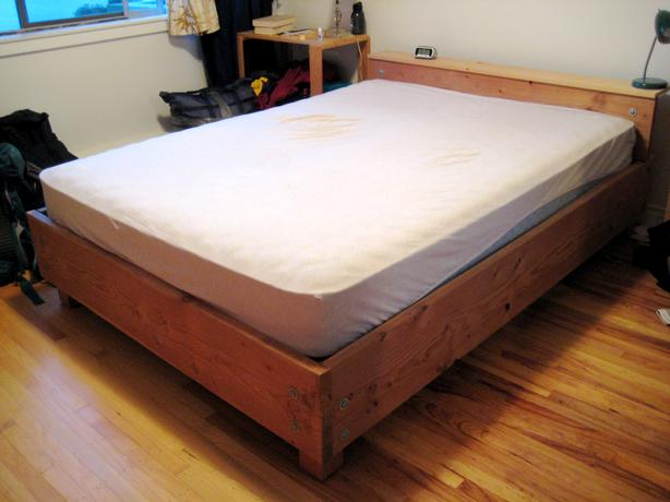 hand crafted queen sized wood bed for sale victoria city victoria. Black Bedroom Furniture Sets. Home Design Ideas