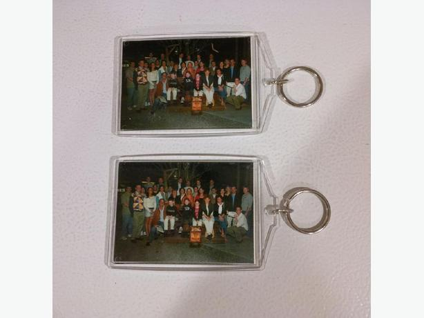 Pair of photo keychains