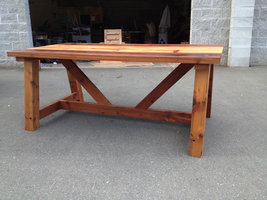 Handmade Cedar Trestle Dining Table Parksville Nanaimo : 42042789934 from www.usednanaimo.com size 934 x 700 jpeg 103kB