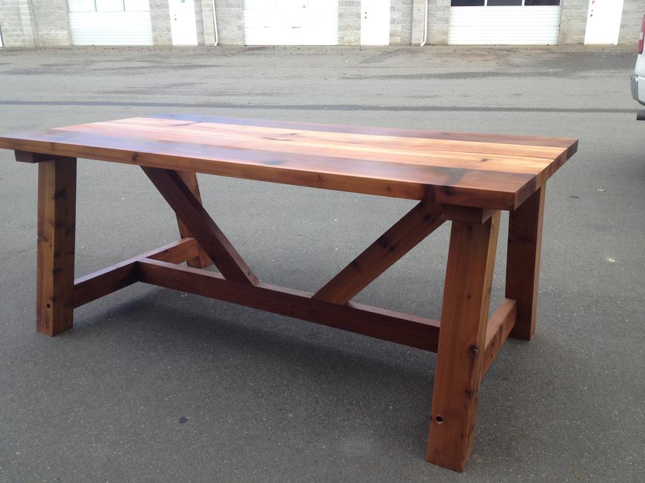 Handmade Cedar Trestle Dining Table Parksville Nanaimo : 42042797934 from www.usednanaimo.com size 934 x 700 jpeg 81kB
