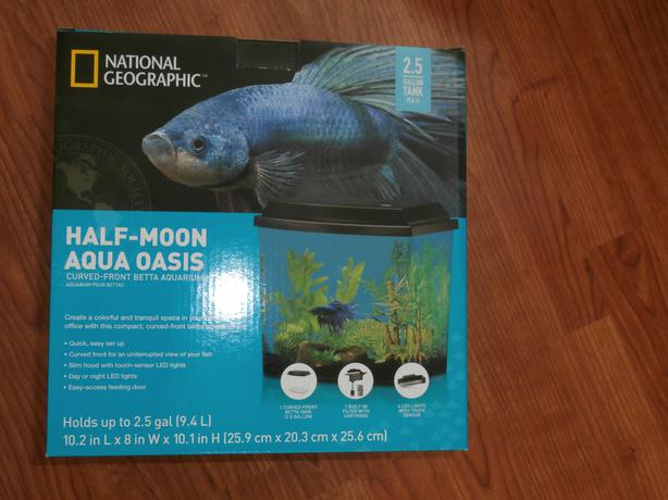 2 5 gallon national geographic fish betta tank esquimalt