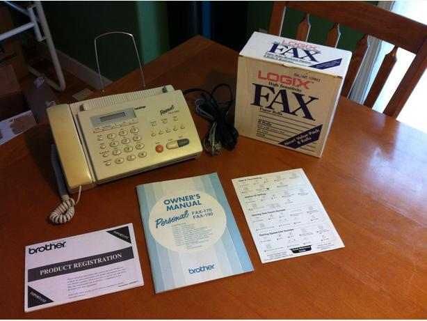 Brother Telephone/Fax machine model Personal FAX-190