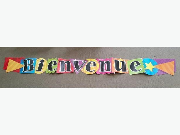 BIENVENUE SIGN